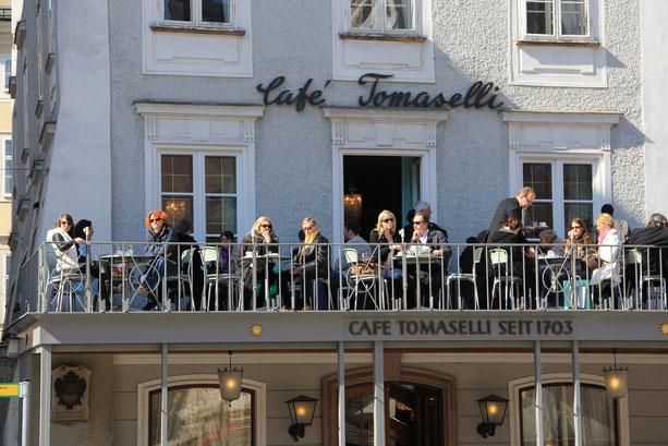 tour em Salzburgo em português com guía Liza - Café Tomaselli