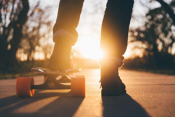 Sport und Freizeit, Sportgeräte, Longboard, Pennyboard, Skateboard
