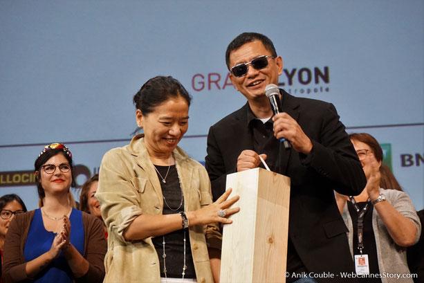 Wong Kar-Wai et son épouse Esther- Clôture du Festival Lumière 2017 - Lyon - Photo © Anik Couble