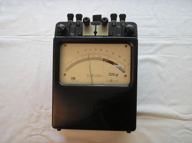 Hartmann & Braun Präzisions Messgerät zur bestimmung des Leistungsfaktors bei Wechselstrom