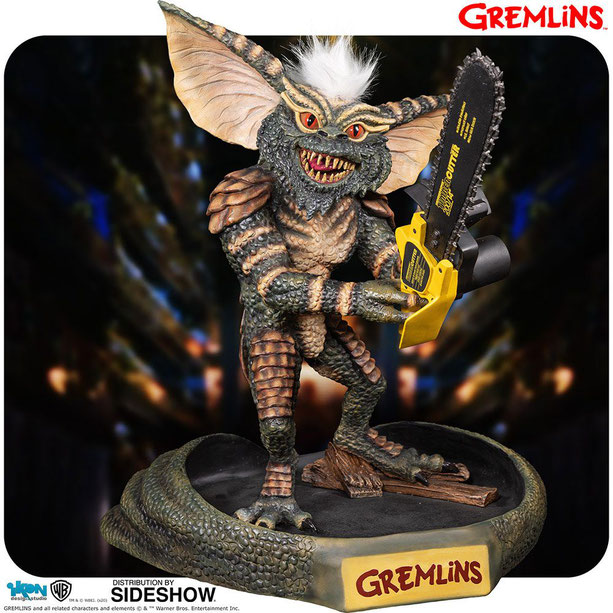 Gremlin Stripe with Chainsaw 1/2 Gremlins Polystone Statue 47cm Ikon Collectables