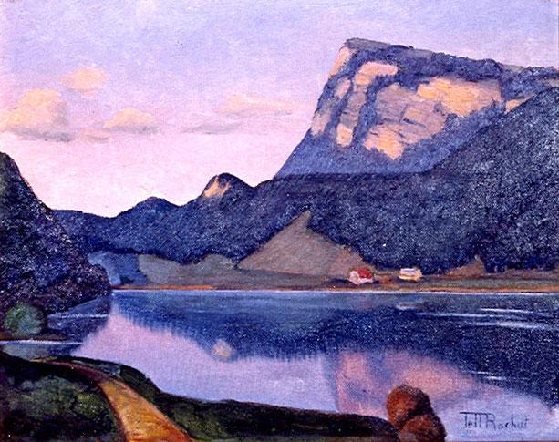 Ein See, ein Berg, von Tell Rochat dargestellt
