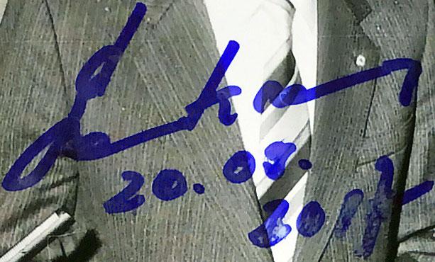 Autograph Egon Krenz Autogramm