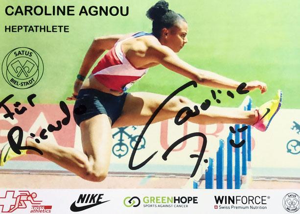 Autograph Caroline Agnou Autogramm