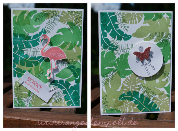 Stampin´Up! Urwald mit Flamingo oder Fee? - Patricia Stich 2016