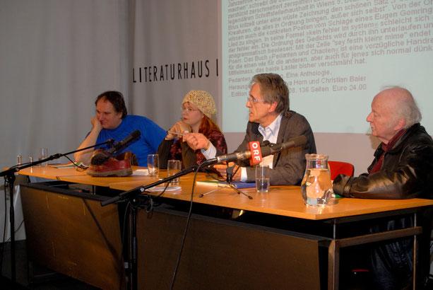 Buchpräsentation Pedanten  und Chaoten im Literaturhaus 2008