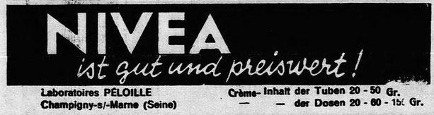 Publicité dans le journal germanophone l'Alsacien du 31 mai 1934