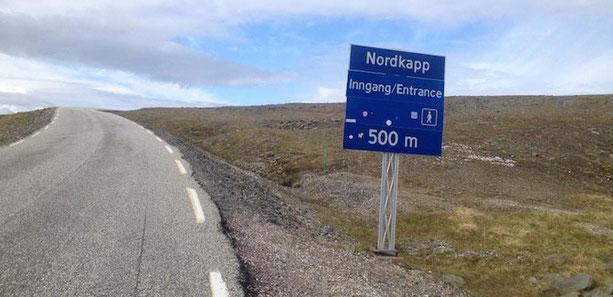 500m vorm Nordkapp