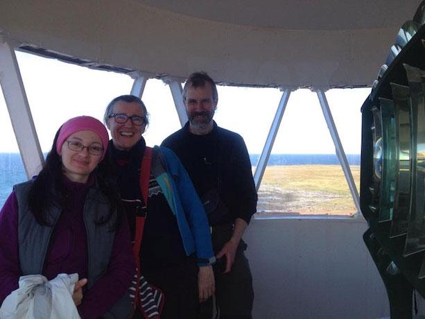 Pouncer Crew auf der Aussichtsplattform am Nordkapp