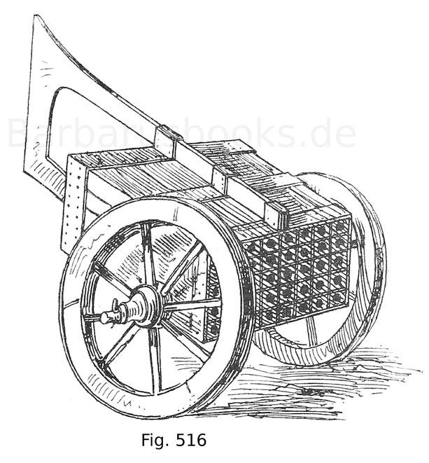 Fig. 516. Vierzigläufiges Hagelstück. 15. Jahrhundert. Aus den Zeugbüchern Maximilians I. von 1514.