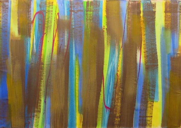 Abstrakt 20,  Acryl auf Leinwand, 220/150 cm