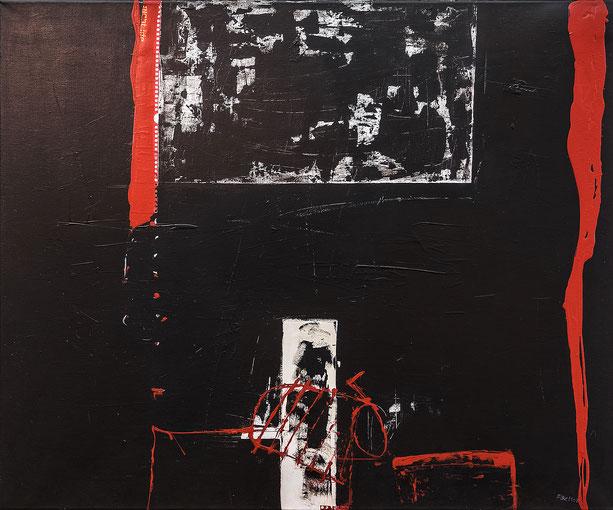 Rot Schwarz I, Acryl auf Leinwand