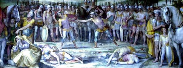 Combat des Horaces et des Curiaces, Giuseppe Cesari