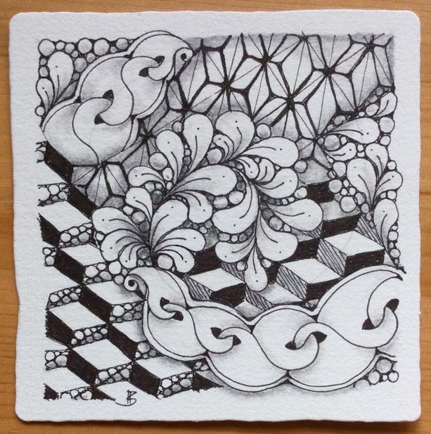 tangles: variations of D1 including a 'nzeppel-variation and my Lisbon-bakery-variation, noom, flux, tipple