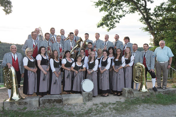 Musikverein Bieringen 2016 am Neckarblick in Schwalldorf