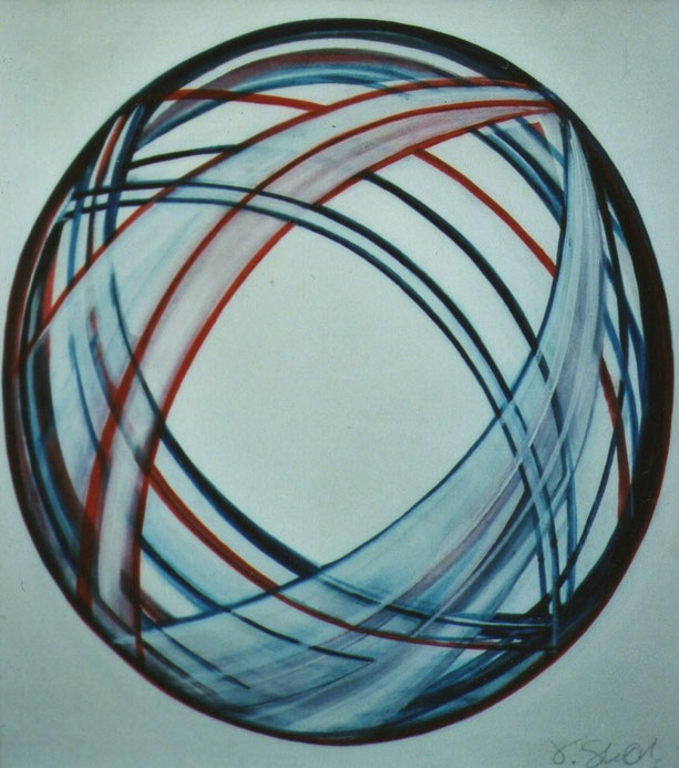 orbit, oil on canvas, 75 x 85 cm, 2001