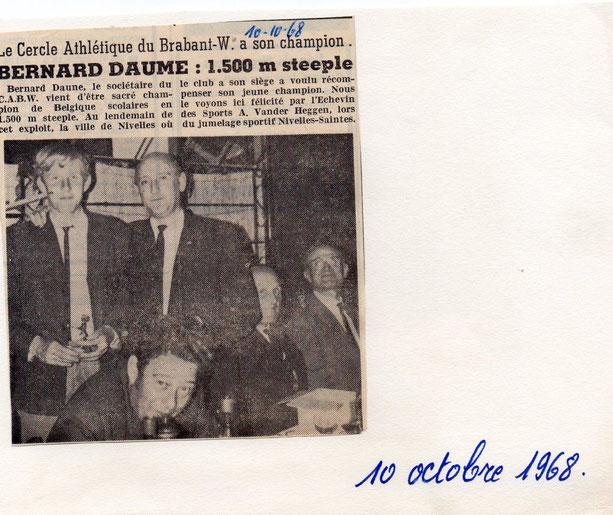 """Article paru dans le journal """"Le peuple"""" du 10/10/1968"""