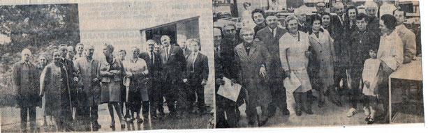 """Article paru dans le journal """"Le Peuple"""" du 26/09/1968"""