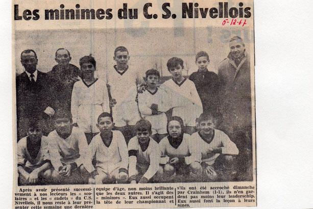 """Article paru dans """"Le Peuple"""" du 5/12/1967"""
