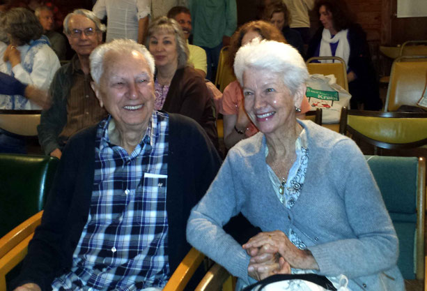 May 2015 : Bill and his wife Diana at the Meher Centre, Myrtle Beach, SC. Photo by Anthony Zois