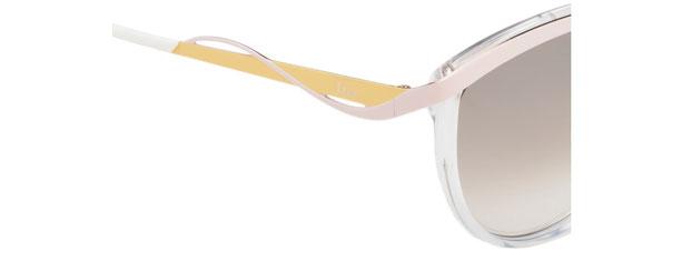 Occhiali da sole Christian Dior donna. Modello: Metaleyes1. Colore: 6OB/IQ trasparente, rosa e giallo. Calibro 57-17. Prezzo € 286,00. Spedizione gratis. Materiale: acetato e metallo.