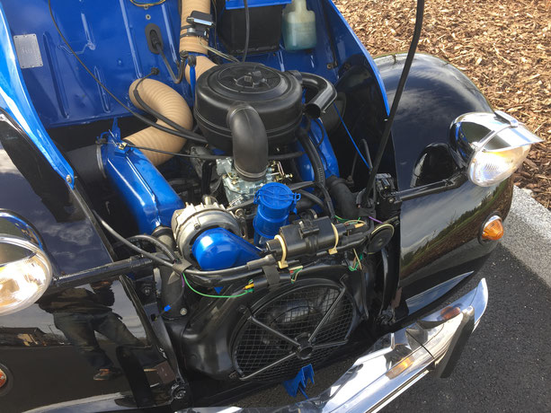 2cv citroen charleston bleu noir restauration moteur