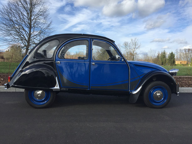 2cv citroen charleston bleue noire restauration