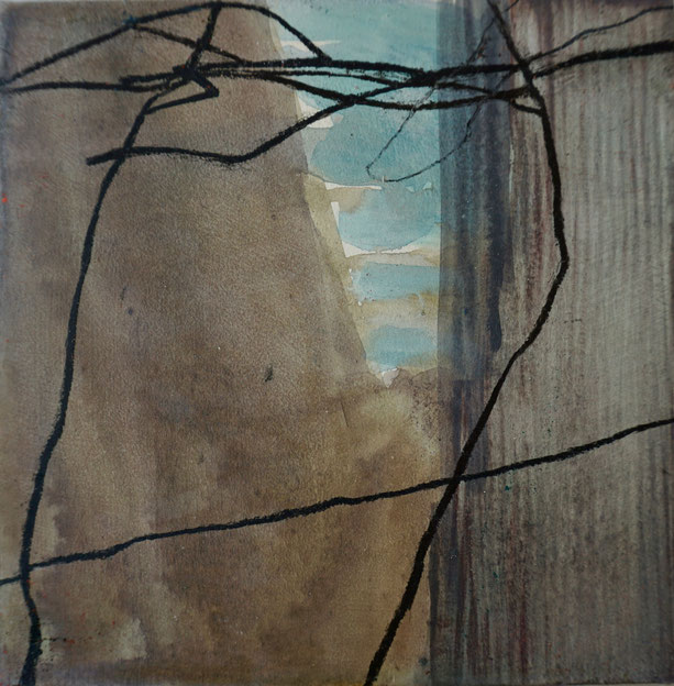 schwarz 2009 20 x 20 cm Mischtechnik / Leinwand / Holz