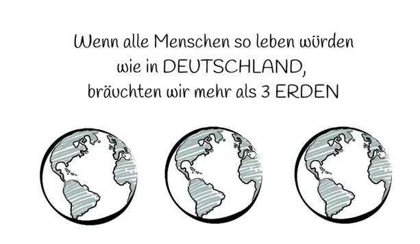 My GREEN Home Deutschladn braucht drei Erden - klicke hier und du kann dir bei YouTube-My Green Home anschauen warum Deutschland drei erden braucht. Earth Overshoot Day. Energie sparen. Zero Waste. Nachhaltig. Plastik. Mikroplastik. Plastikflaschen.