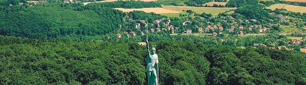 Hermannsdenkmal erinnert an die Varus Schlacht 9 n. Chr.