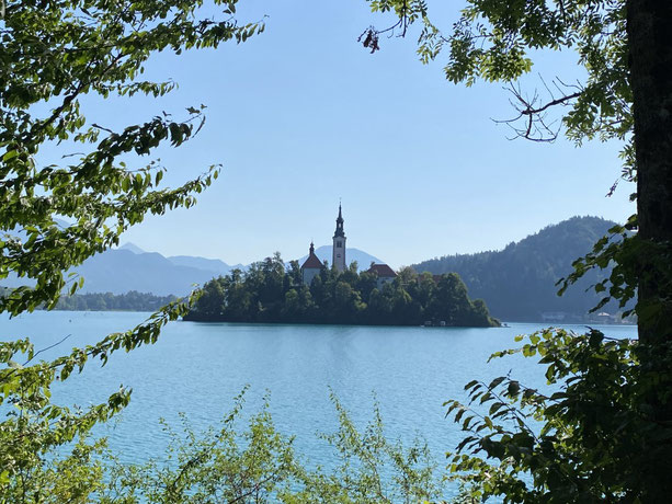 Slowenien, Slovenia, Bled, Wallfahrtskirche Mariä Himmelfahrt, Bleder See, Kirche im See