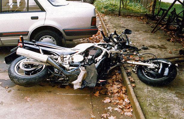 Mein Traum-Motorrad, bzw. was davon noch übrig war.