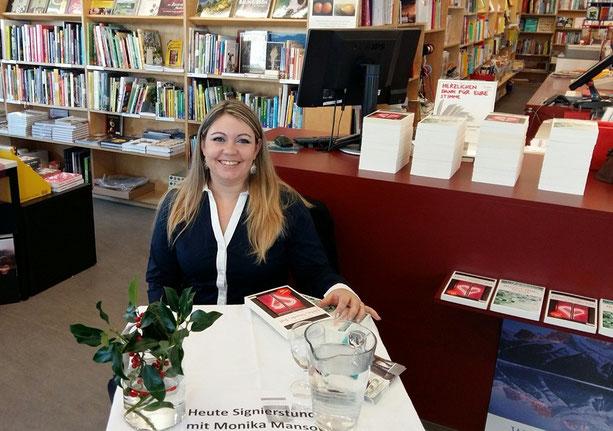 Monika Mansour Buchhandlung Untertor Signierstunde Krimi Bücher