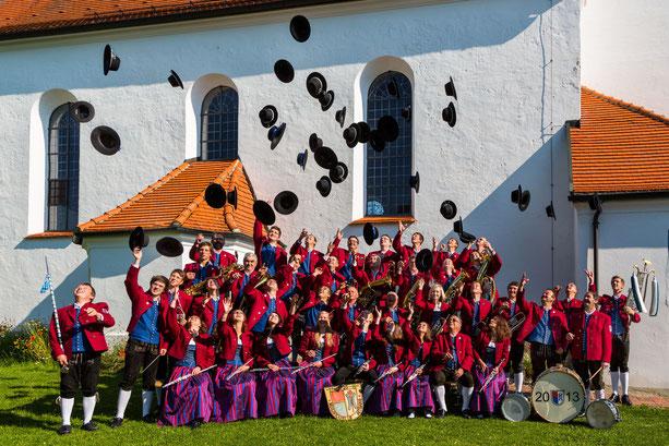 Musikkapelle Aitrang 2013 vor St. Alban, Görwangs
