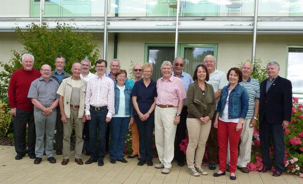 Vorstandsmitglieder des Hospizvereines im Juni 2016 (Automatikkamera von Obmann Manfred Gneist)