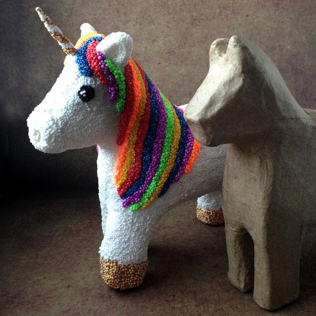 Zauberhaftes Einhorn basteln mit Foam Clay (Wolkenschleim) - Unicorn