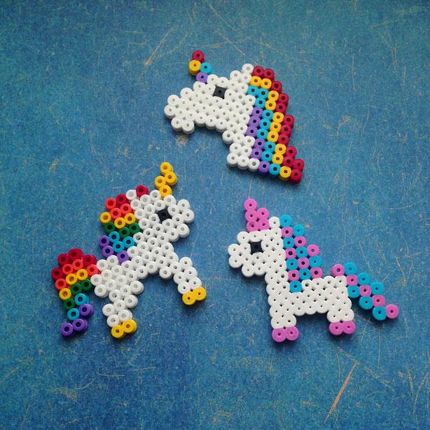 HAMA Bügelperlen basteln - Einhorn, Perler Beads - Unicorn