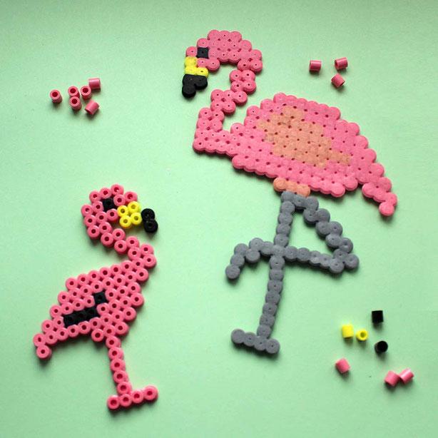 Hama Bügelperlen Flamingo