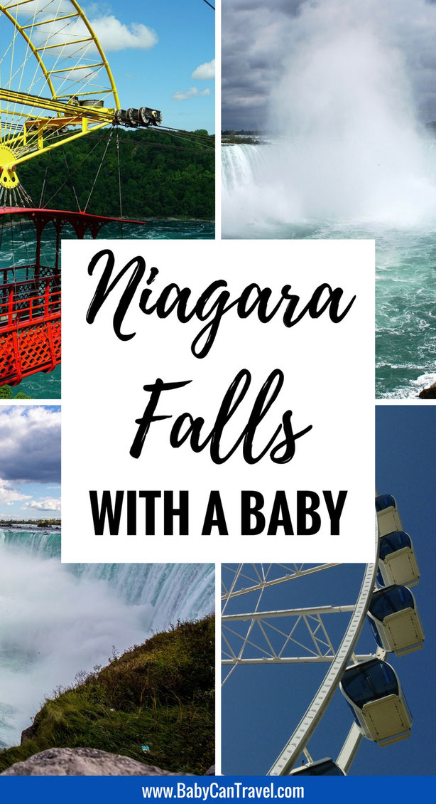 When your trip to NYC isn't what you hoped, take a drive over to Niagara Falls, Canada. Get all the tips for taking your baby in this post on babycantravel.com #travelwithbaby #toddlertravel #niagarafalls #canada