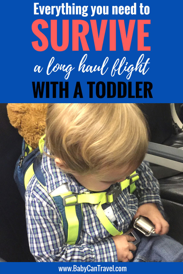 Does the idea of flying with a toddler make you nervous? Everything you need to know and bring for airplane travel with toddlers is here, from tips for traveling with a toddler to airplane activities.   | Toddler Travel #toddler #familytravel
