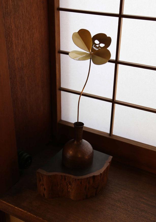 銅製一輪挿し・竹内あきじ ¥22.000