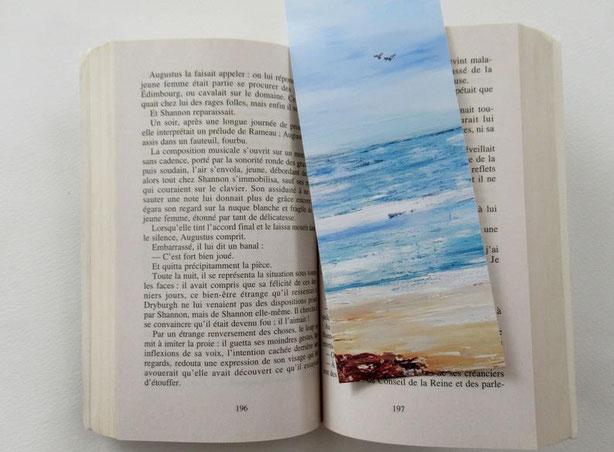 marque-page-original-ocean-mer-plage-signet-pour-livre-art-collection-audrey-chal-royan