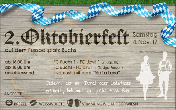 Oktoberfest Rheinau FC Buchs