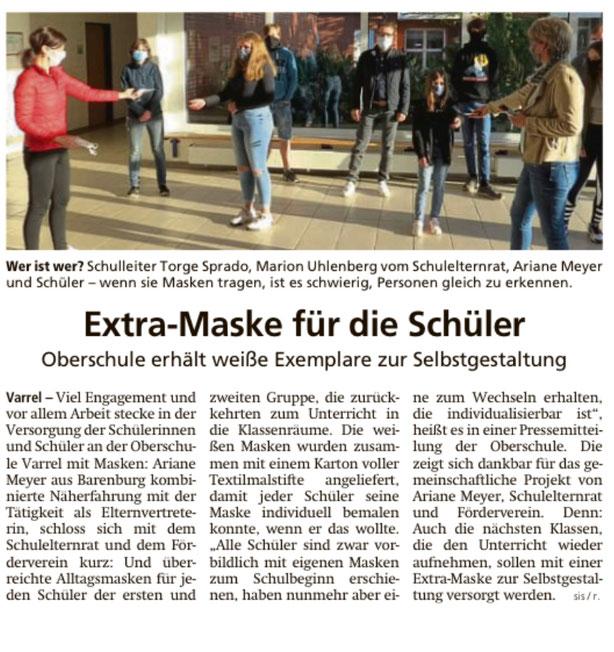 (Artikel aus der Kreiszeitung Diepholz vom 15.05.2020)