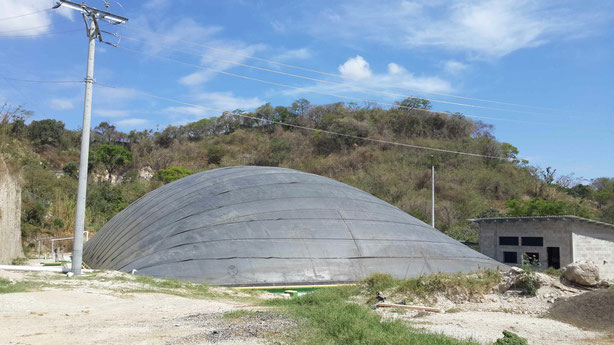 Biodigestor purines de cerdo - covered lagoon digester for pig manure