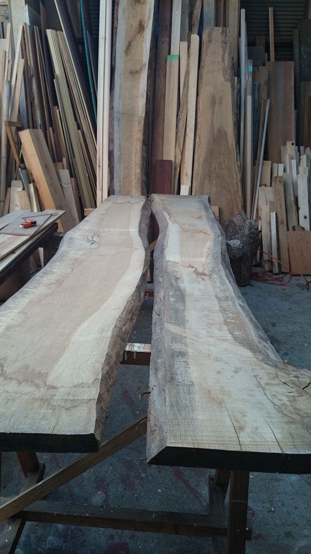 広葉樹で家具製作