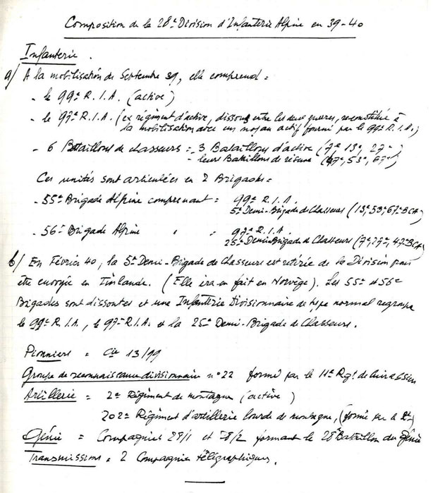 Document manuscrit anonyme d'origine inconnue