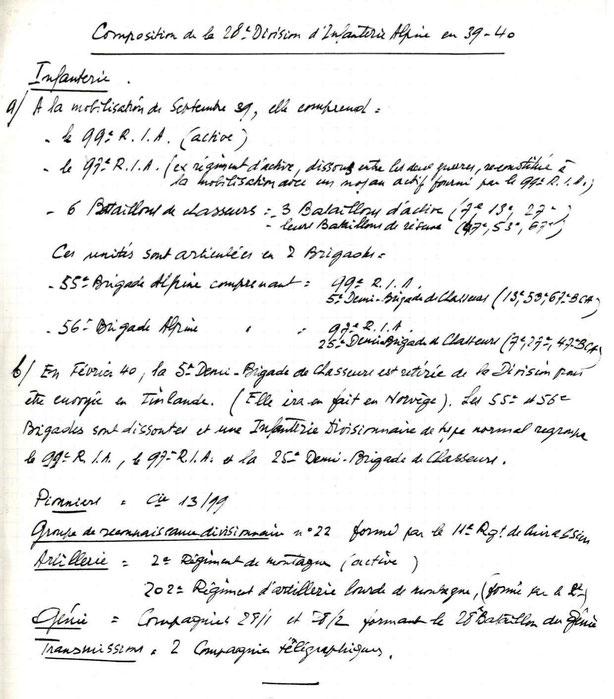 Document manuscrit anonyme d'origine inconnue