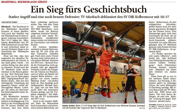 Bericht im Miesbacher Merkur am 30.11.2016 - Zum Vergrößern klicken