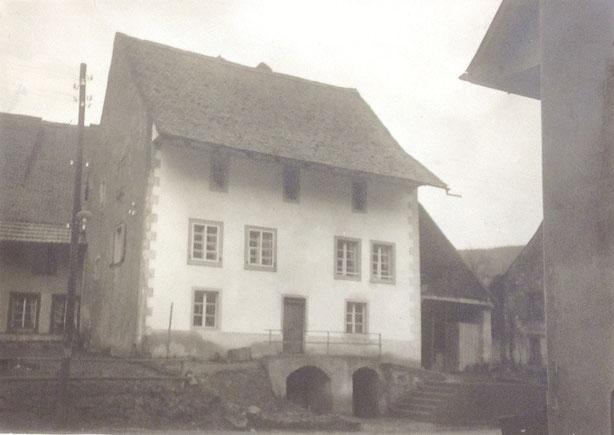 Der Zehntenstock im Winter 1912 / 1913 (Foto: Staatsarchiv AG)